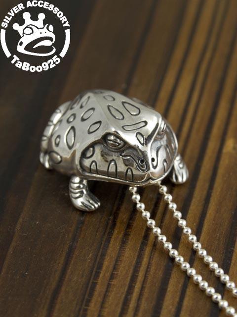 TaBoo925[ツノガエル ペンダント] (蛙/カエル/かえる/シルバーアクセサリー/シルバー925/Silver925/タブー/ネックレス/ペンダント/レディース/ユニセックス/蛙/かえる/カエル/)