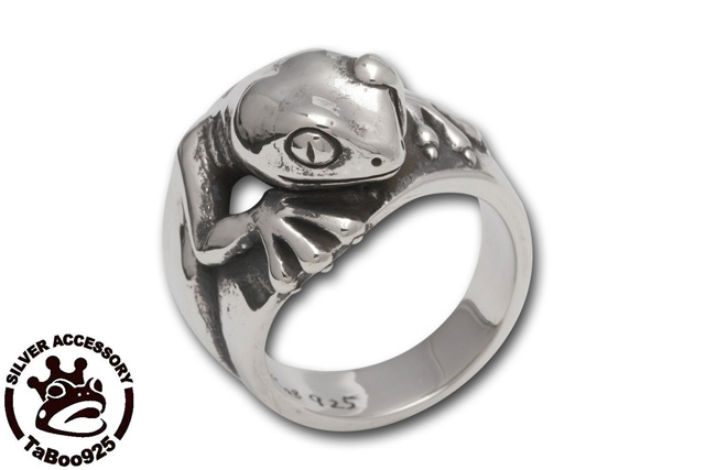 TaBoo925[ヤモリリング2] (シルバーアクセサリー/silver925/リング/トカゲ/メンズ/レディース/ユニセックス/ヤモリ/爬虫類/指輪)