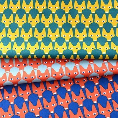 Sample half & half cut cloth BRITA SWEDEN RUT Fox Scandinavian fabrics and fabrics patterns