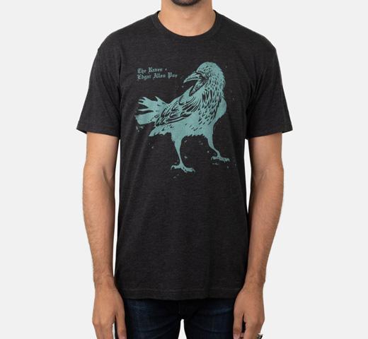 エドガー アラン ポー 大鴉 1845 Tシャツ ペンギン ホラー シリーズ Out of Allan Edgar Poe Horror Tee The Penguin Raven Vintage ディスカウント Black Print 正規逆輸入品