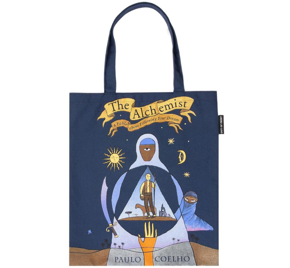 パウロ コエーリョ アルケミスト - 夢を旅した少年 1988 英語版初版デザイン トートバッグ Out 2 Paulo The Print Alchemist 公式ストア of !超美品再入荷品質至上! Coelho Tote Bag