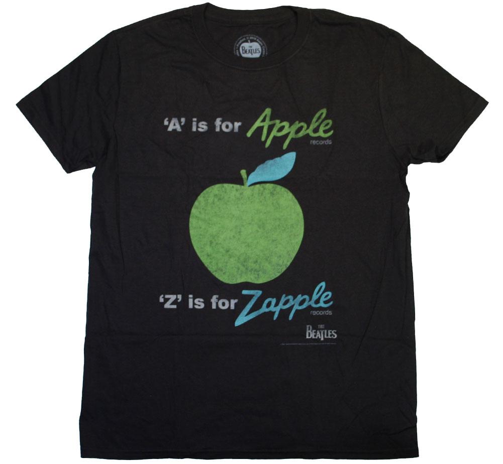 ザ ビートルズ アップル 日本産 レコード Tシャツ The Beatles Apple Records A is Tee for 好評 Black