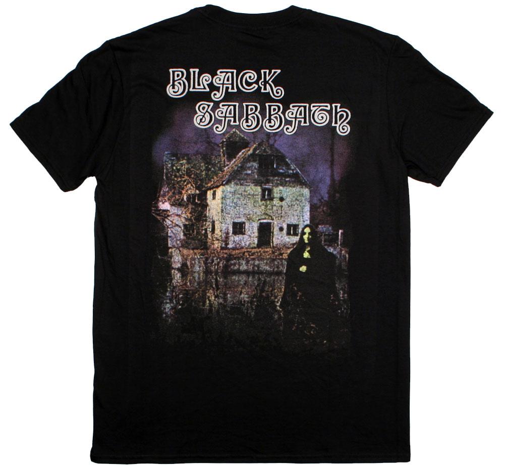 バックプリント 在庫処分 : 1stアルバム ジャケット デザイン 年間定番 Black ブラック Sabbath Tee - サバス Tシャツ