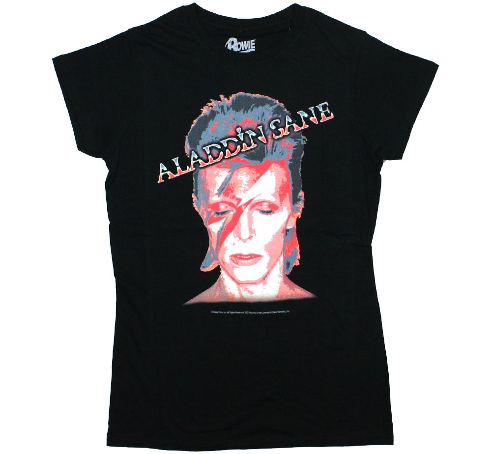 Aladdin Sane-Gris David Bowie Femme Premium Tee
