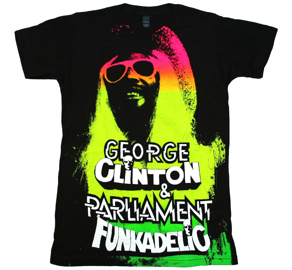 Men/'s Funkadelic George Clinton Logo Man T shirt Black