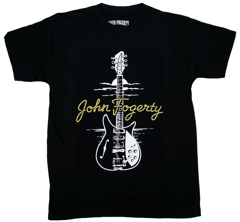 John Fogerty Tシャツ リッケンバッカー 325 激安超特価 クリーデンス クリアウォーター リバイバル C.C.R. Tee ジョン フォガティ - Rickenbacker [正規販売店] Black