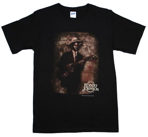 ロバート ジョンソン ブルース Tシャツ セール開催中最短即日発送 Blues 〔UNSX〕 Tee Robert セール 登場から人気沸騰 Black Portrait Johnson