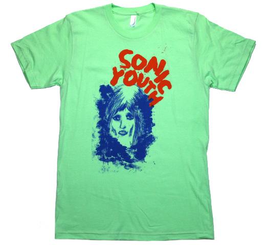 ソニック ユース Sonic Youth バンド 割引 公式通販 Tシャツ Tee Face Ink Sea Foam