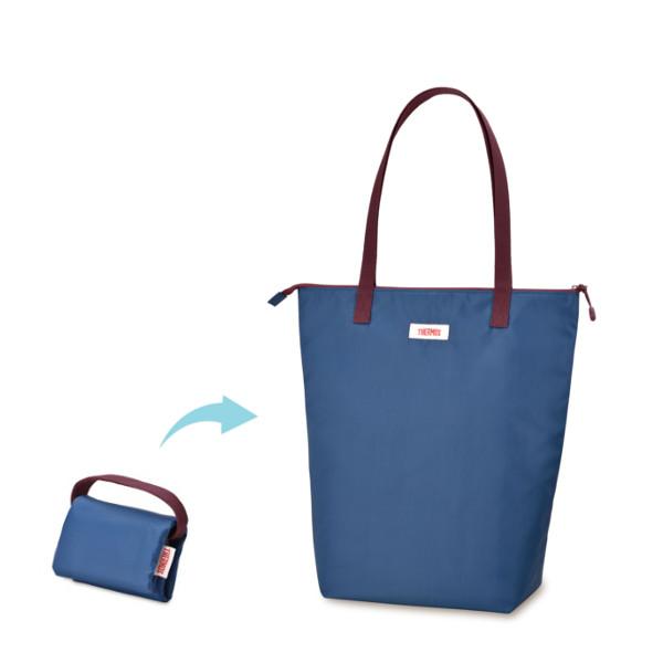 合計10 000円以上ご購入で送料無料 サーモス 絶品 保冷ショッピングバッグ 贈答 REV-012 エコバッグ 買い物バッグ ネイビー NVY THERMOS