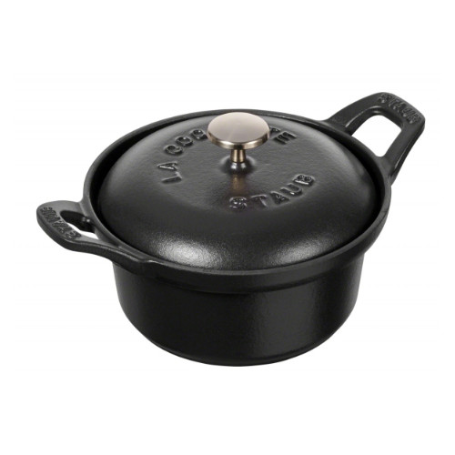 《staub(ストウブ)》ココットヴィンテージシリーズ ラウンド12cm ブラック40501-020 オーブンウェア