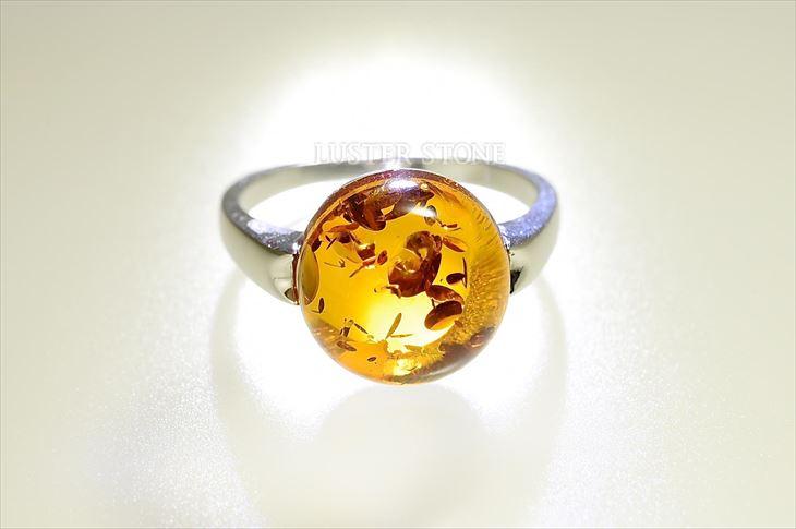 アンバー 指輪 天然石 パワーストーン