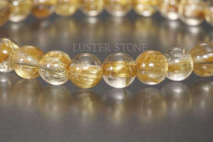 パワーストーン 天然石 ブレスレット タイチンルチルクォーツ 6mm