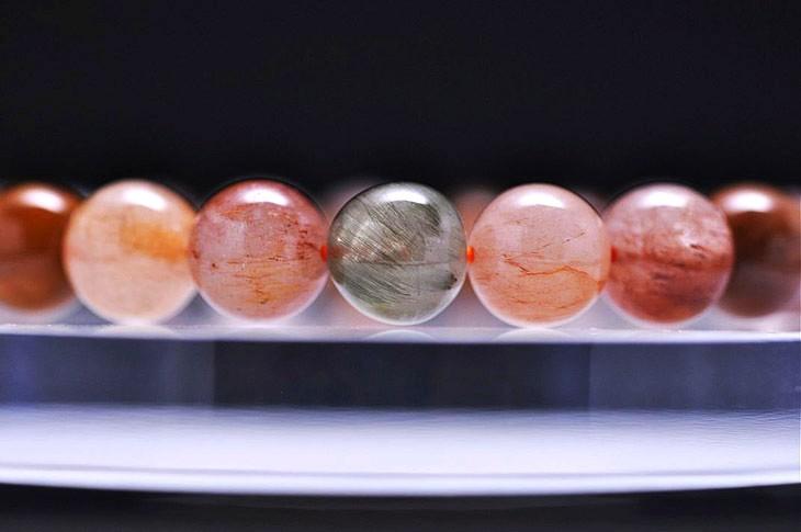 パワーストーン 天然石 ブレスレット ミックスルチルクォーツ 10mm