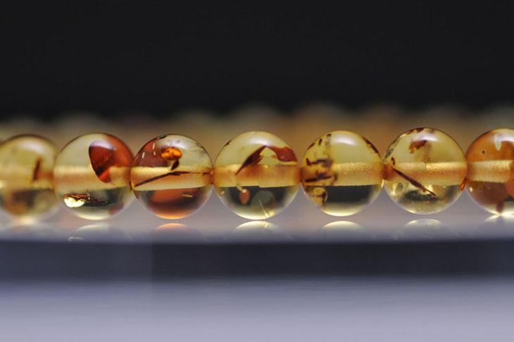パワーストーン 天然石 ブレスレット アンバー 6mm