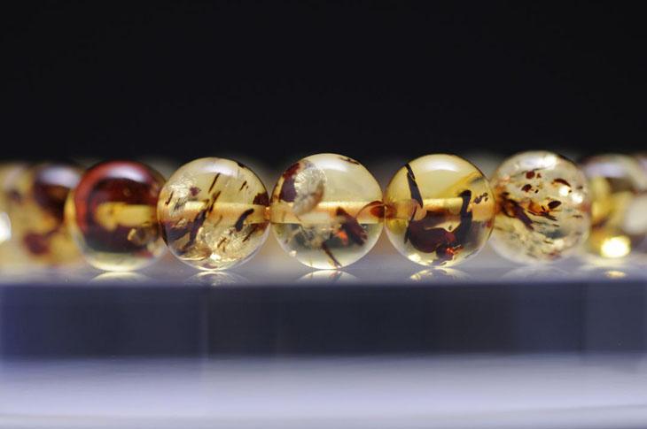 パワーストーン 天然石 ブレスレット アンバー(琥珀) 8mm