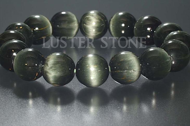 パワーストーン 天然石 ブレスレット キャッツアイアンフィボール(AMPHIBOLE) 13.5mm