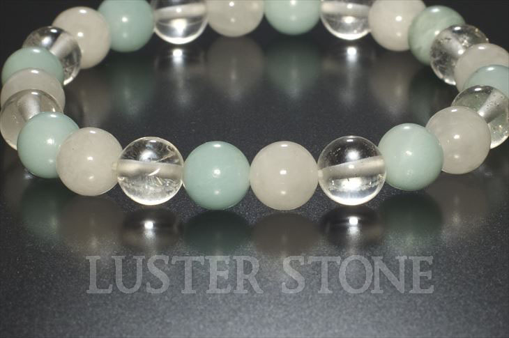 パワーストーン 天然石 ブレスレット レディース アズマ- ホワイトアゼツライト サチャロカアゼツライト