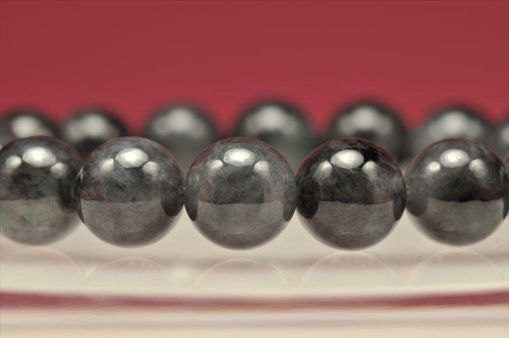 パワーストーン 天然石 ブレスレット 希少 ブラック 翡翠(ヒスイ) 10mm ヒスイ