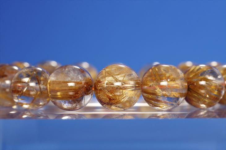 パワーストーン 天然石 ブレスレット ルチルクォーツ 13mm