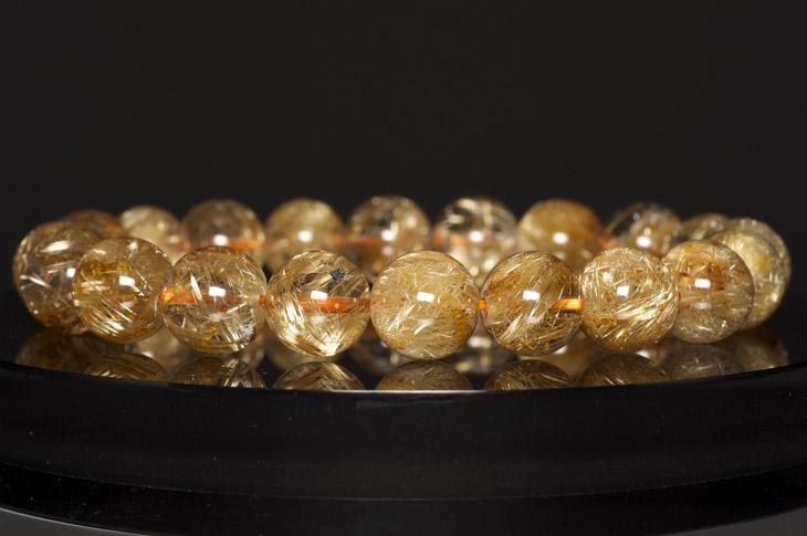 パワーストーン 天然石 ブレスレット ルチルクォーツ 10mm