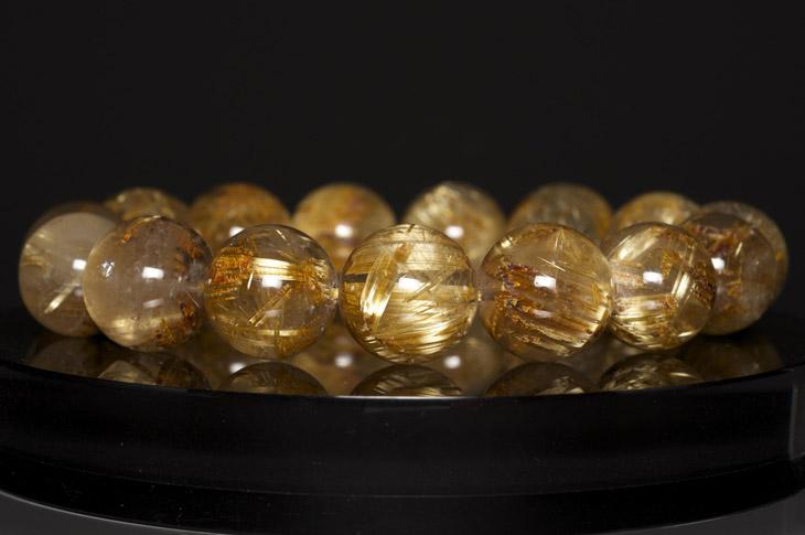 パワーストーン 14mm 天然石 天然石 ブレスレット ルチルクォーツ SAグレード SAグレード 14mm, 山武町:569e7beb --- sunward.msk.ru
