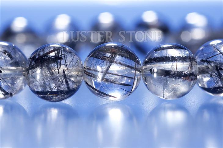 パワーストーン 天然石 ブレスレット ブラックルチルクォーツ 9mm