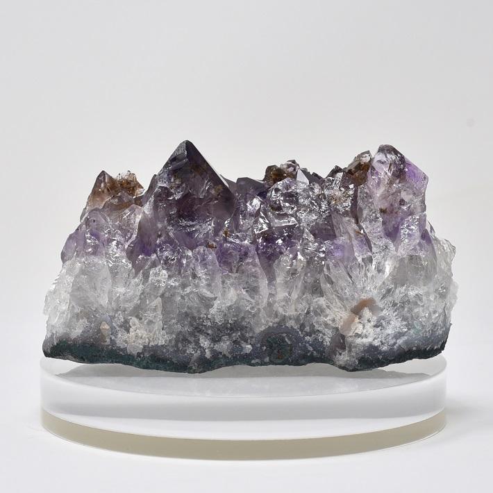 置物 クラスター アメジスト in カコクセナイトクラスター パワーストーン 天然石
