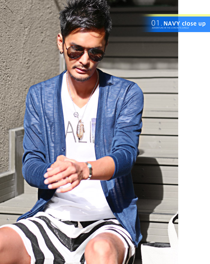 LUX STYLE | Rakuten Global Market: Sheer Cardigan men's summer ...