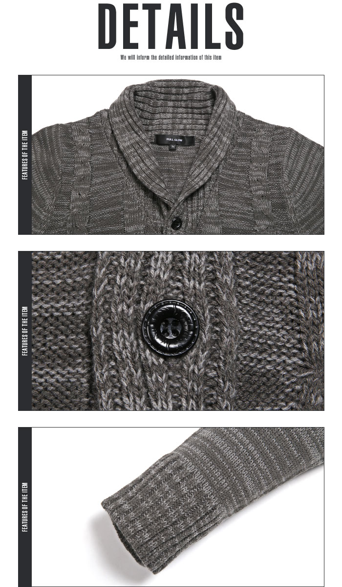 1c57ea5d902 ... Shawl collar cardigan knit men cable knit BITTER bitter system cardigan  light outer haori cable knitting ...