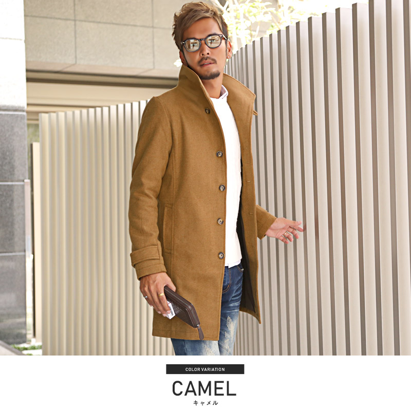huge discount fashion style 100% quality Coat mens Italian color Melton wool coat Melton coat clothing winter wool  mixed her BITTER bitter of Italian collar coat Chester coat clean because  ...
