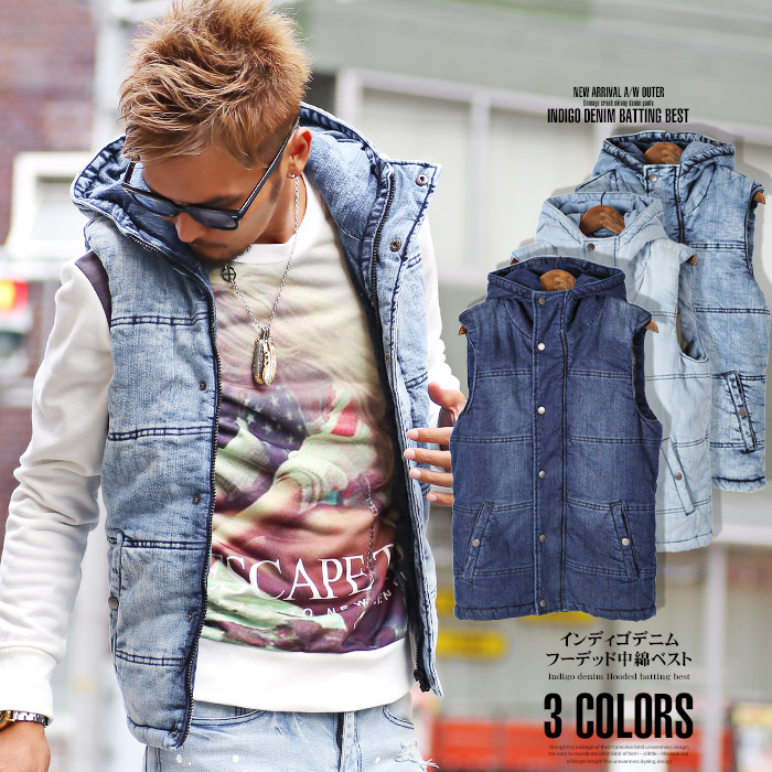 Lux Style Best Mens Cotton Jacket Denim Indigo Bitter Bitter