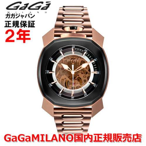 【国内正規品】GaGa MILANO ガガミラノ 自動巻 腕時計 ウォッチ メンズ FRAME_ONE フレームワン 44MM スケルトン 7074.01