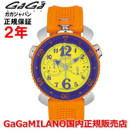 【国内正規品】GaGa MILANO ガガミラノ 腕時計 ウォッチ メンズ レディース CHRONO SPORTS 45MM クロノスポーツ45mm 7010.04