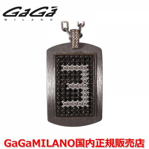 【国内正規品】GaGa MILANO ガガミラノ メンズ レディース MILITARY TAG NECKLACE ミリタリータグ シルバーネックレス MILITARY TAG-3-BLK 番号