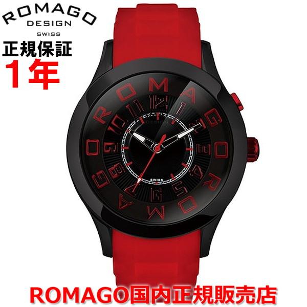 【国内正規品】ROMAGO DESIGN ロマゴ デザイン メンズ レディース 腕時計 ウォッチAttraction/アトラクションシリーズ RM015-0162PL-BKRD