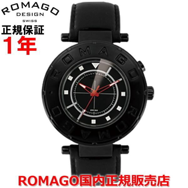 【国内正規品】ROMAGO DESIGN ロマゴ デザイン メンズ レディース 腕時計 ウォッチ Flow/フローシリーズ RM002-0055ST-BK