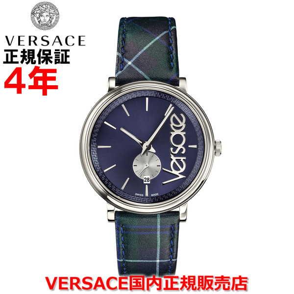 【国内正規品】※国内正規品のみオーナー登録して頂く事により4年保証となります。 VERSACE ヴェルサーチェ メンズ レディース 腕時計 ウォッチ Vサークルタータン VCIRCLETARTAN VEBQ00118