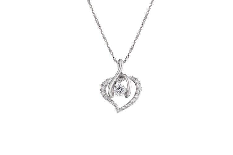 クロスフォーニューヨーク- Dancing Stoneシリーズ(NYP-560) シルバー・ペンダント デザイン名:Smart Heart