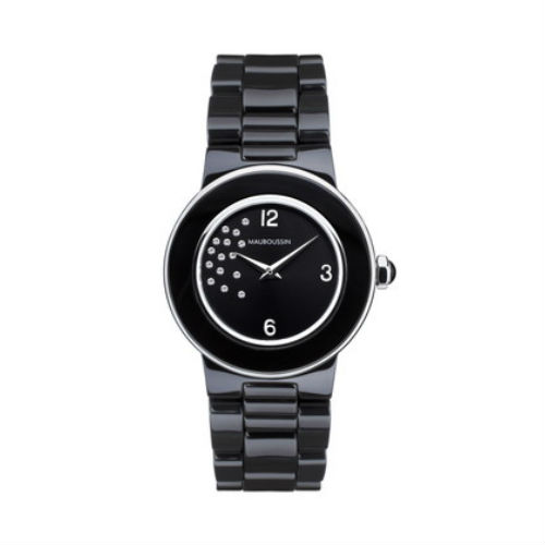 【国内正規品】2年保証MAUBOUSSIN モーブッサン レディース 腕時計 ウォッチ AMOUR LA NUIT 15dts CERAMIC BELT/アムール・ラ・ニュイ セラミックベルト 9249101-590