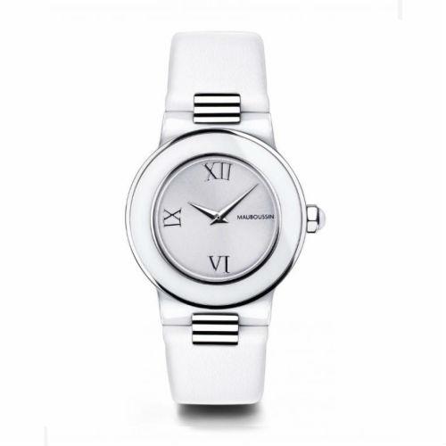 【国内正規品】2年保証MAUBOUSSIN モーブッサン レディース 腕時計 ウォッチ AMOUR LE JOUR BLANCHE LEATHER BELT/アムール・ル・ジュール レザーベルト 9252100-590