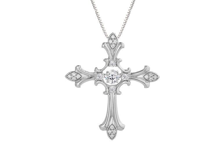 クロスフォーニューヨーク- Dancing Stoneシリーズ(NYP-608) シルバー・ペンダント デザイン名:Eternal cross