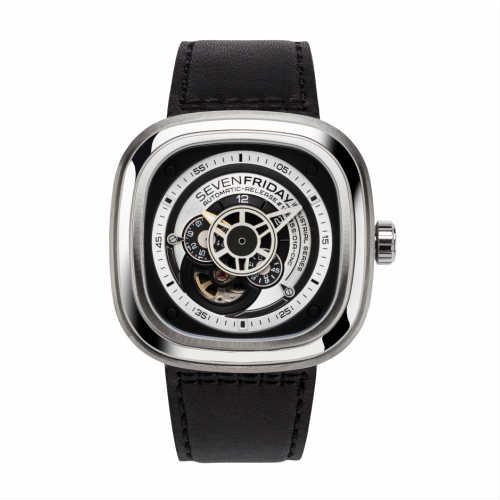 ご購入で白ラバースペアベルトプレゼント!!【国内正規品】SEVEN FRIDAY セブンフライデー 機械式腕時計 ウォッチ メンズ レディース 時計 P1B-01