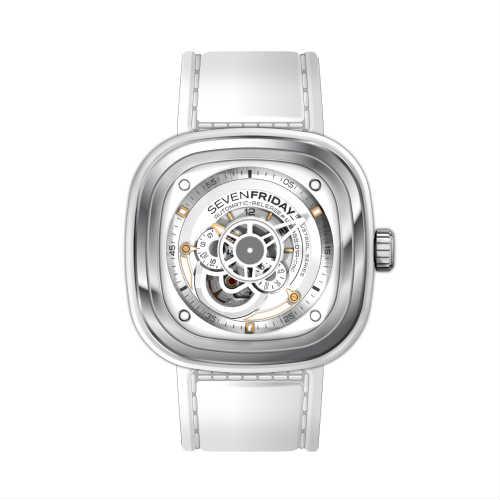 ご購入で白ラバースペアベルトプレゼント!!【国内正規品】SEVEN FRIDAY セブンフライデー 自動巻き メンズ レディース 腕時計 ウォッチ P1B-02 Bright