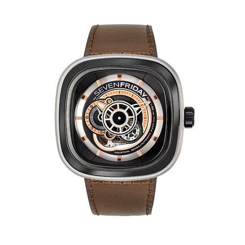 ご購入で白ラバースペアベルトプレゼント!!【国内正規品】SEVEN FRIDAY セブンフライデー 自動巻き メンズ レディース 腕時計 ウォッチ P2B-01 Revolution レボリューシヨン