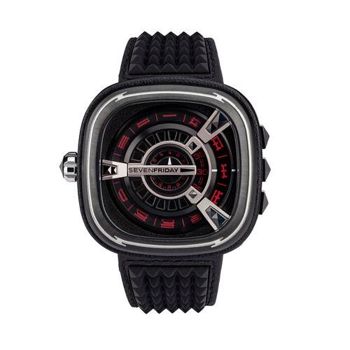 ご購入で白ラバースペアベルトプレゼント!!【国内正規品】SEVEN FRIDAY セブンフライデー 機械式腕時計 ウォッチ メンズ レディース 時計 M1-04 ESSENCE PUNK エッセンス パンク