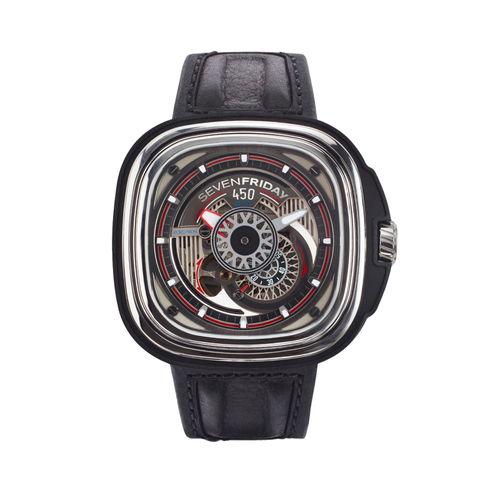 ご購入で白ラバースペアベルトプレゼント!!【国内正規品】SEVEN FRIDAY セブンフライデー 自動巻き メンズ レディース 腕時計 ウォッチ P3C-01 ENGINE HOT ROD エンジン ホットロッド