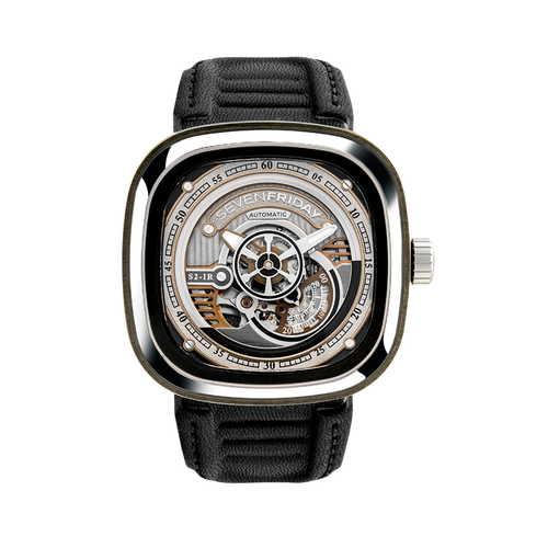 ご購入で白ラバースペアベルトプレゼント!!【国内正規品】SEVEN FRIDAY セブンフライデー 自動巻き メンズ レディース 腕時計 ウォッチ S2-01 REVOLUTION レボリューション