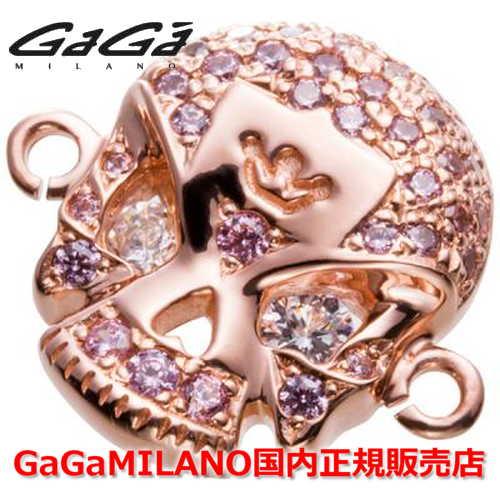 【国内正規品】GaGa MILANO ガガミラノ Men's Ladies/メンズ レディース HBブレス/紐ブレスレット SKULL4/スカル4モデル PG/PNK