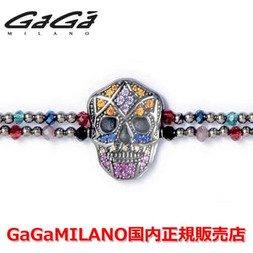 【国内正規品】GaGa MILANO ガガミラノ Men's Ladies/メンズ レディース It Bracelet/ItブレスレットITB SKULL/スカル BLK/MLT
