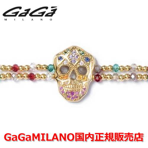 【国内正規品】GaGa MILANO ガガミラノ Men's Ladies/メンズ レディース It Bracelet/ItブレスレットITB SKULL/スカル YG/MLT
